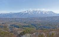 Snowy Smoky Mountain Panorama