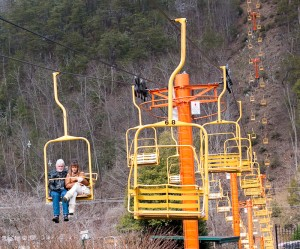 chairlift in Gatlinburg