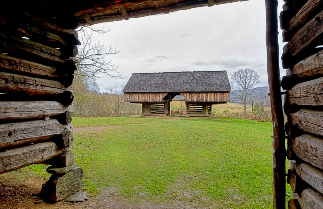 Smoky Mountains cantilever barn © William Britten use with permission only