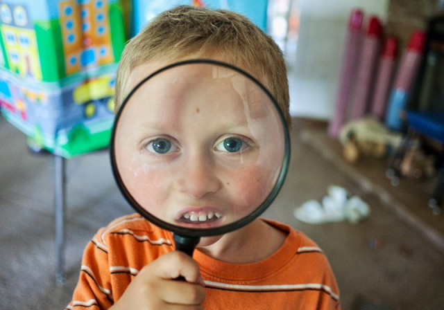 Cohen does the magnifying glass trick
