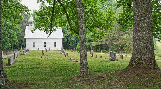 Cades Cove Church © William Britten use with permission only