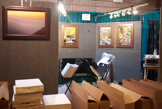 Gatlinburg Craftsmen's Fair Setup