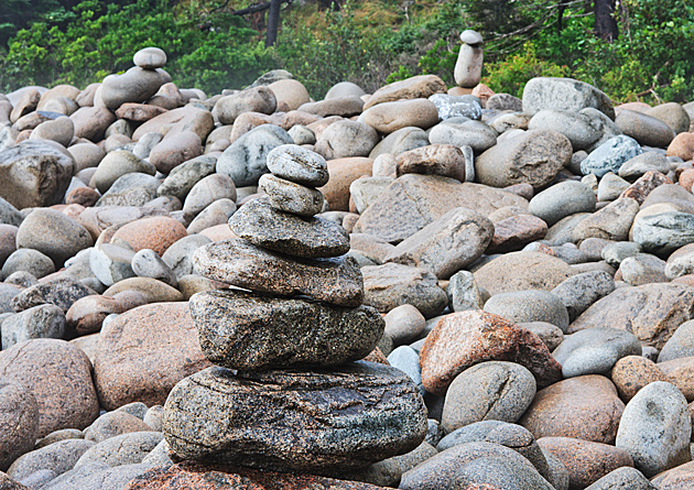 Acadia Zen Stack  © William Britten use with permission only