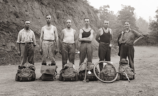Trail Crew 1931 Dutch Roth on Left © University of Tennessee Libraries