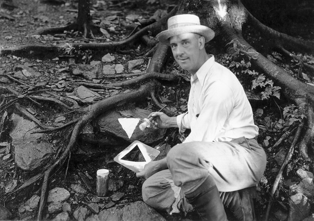 Jim Thompson Marks a Trail © University of Tennessee Libraries