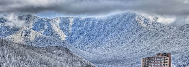 Mt. LeConte Looms over Gatlinburg © William Britten use with permission only