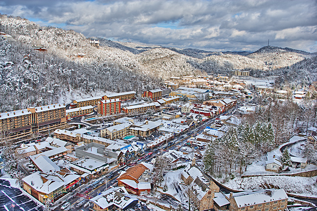 Snowy Gatlinburg © William Britten use with permission only