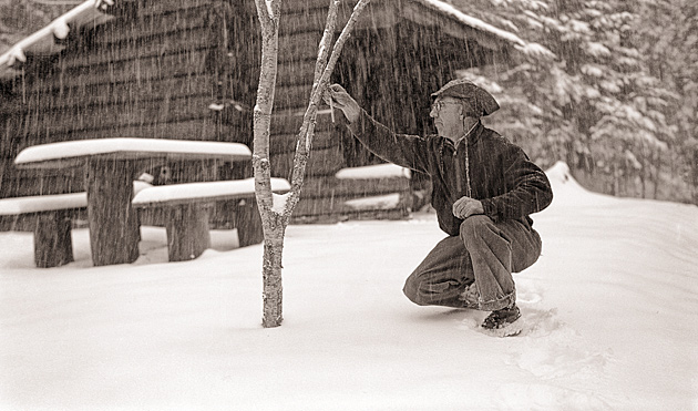 Dutch Roth at Little Indian Gap shelter  © University of Tennessee Libraries