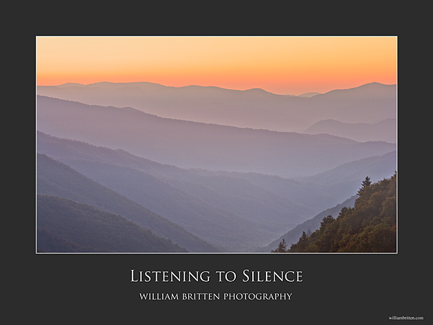 Listening to Silence Poster © William Britten use with permission only