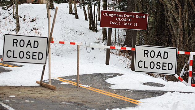 Clingman's Dome road closed © William Britten use with permission only