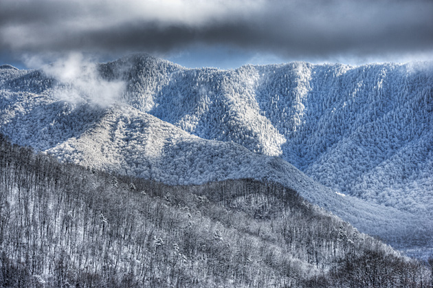 Mt. LeConte from downtown Gatlinburg © William Britten use with permission only