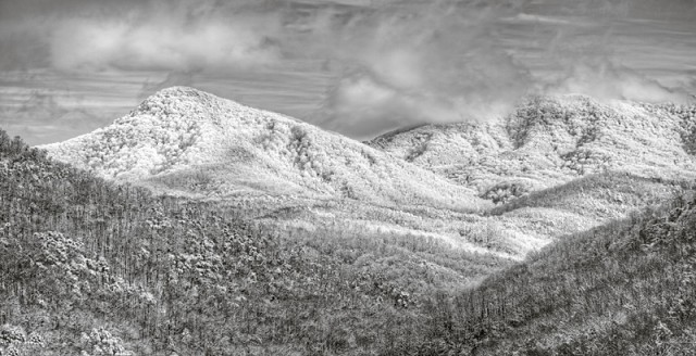 Smoky Mountains in black and white © William Britten use with permission only