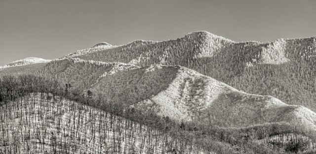 Smoky Mountains Rise Above Gatlinburg © William Britten use with permission only