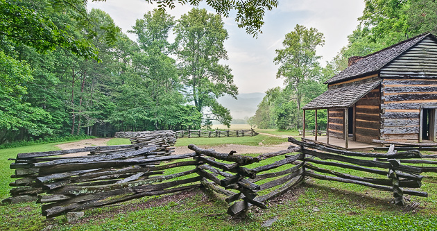 Smoky mountains history fences william britten photography