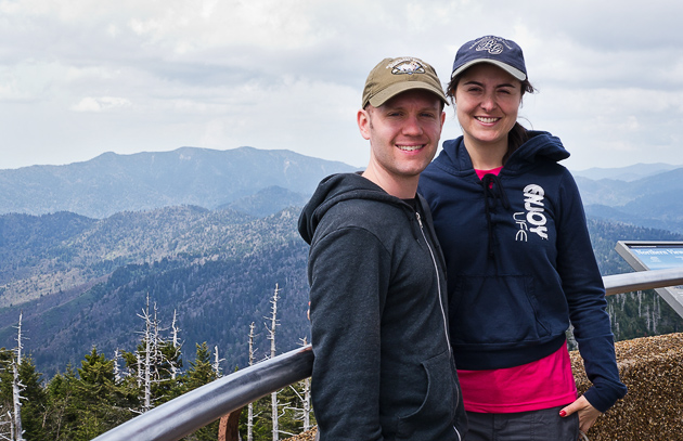 Justin and Lili on Clingman's Dome