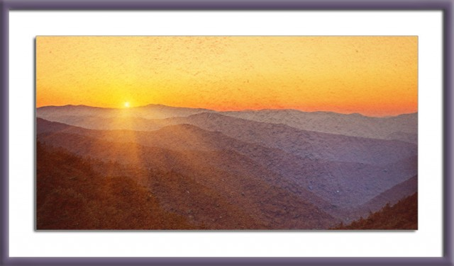Smoky Mountains Sunrise © William Britten use with permission only