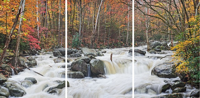 Smoky Mountains photos in a Triptych