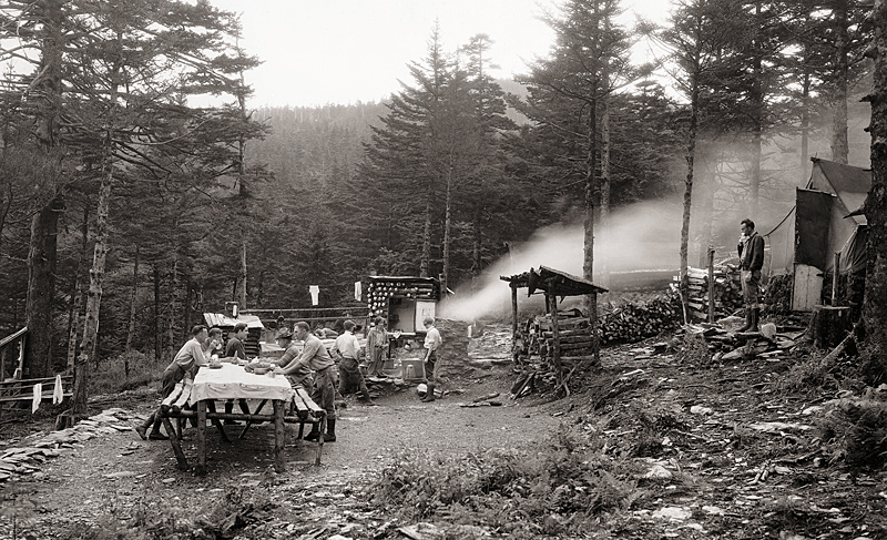 History of the Smokies: LeConte Camping in the 1920s
