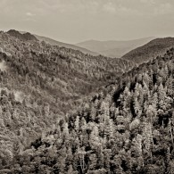 Smoky Mountains in Black and White