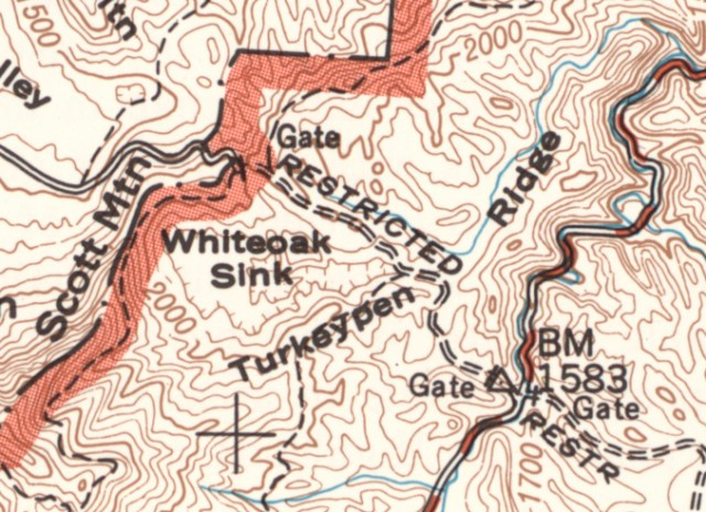 Smoky Mountains History: Topographical Map