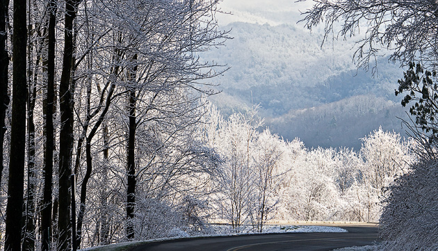 Smoky Mountains after snow