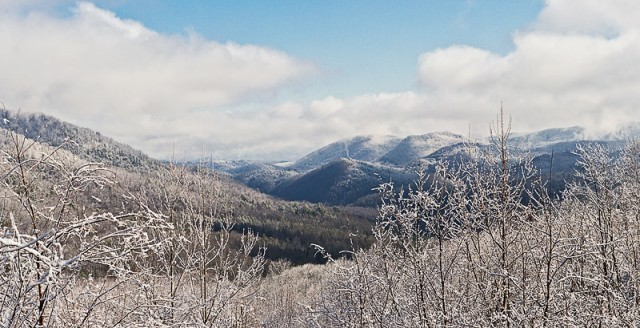 Smoky Mountains photos: snow panorama