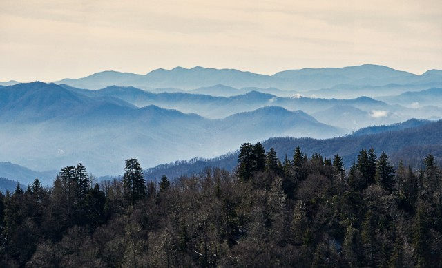 Smoky Mountains late winter photo