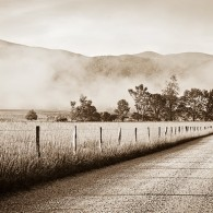 Cades Cove in Black and White