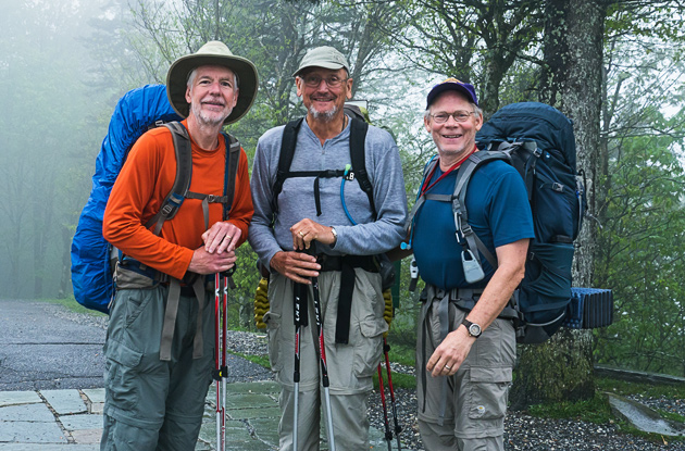 Three Young Hikers