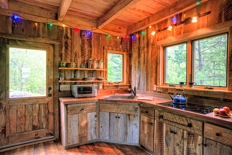 Little bit of thoreau william britten photography for Cabin kitchen cabinets