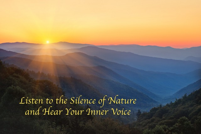 Listen to the Silence of Nature