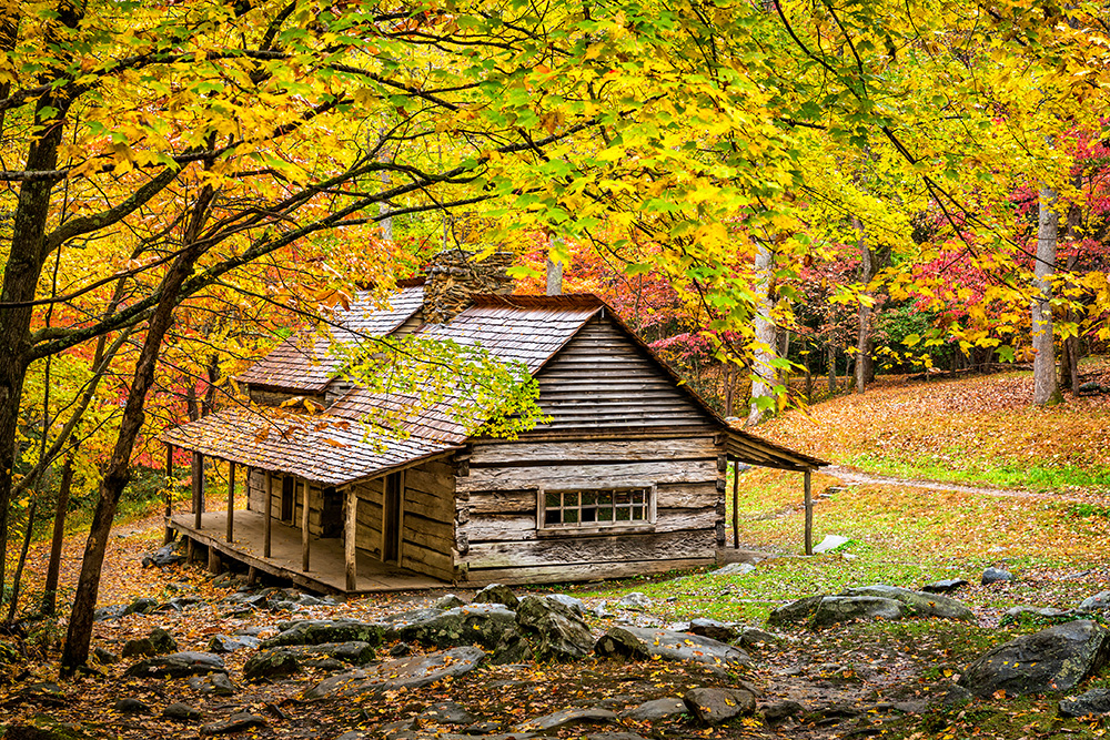 Featured photo noah bud ogle cabin william britten for Smoky mountain cottages