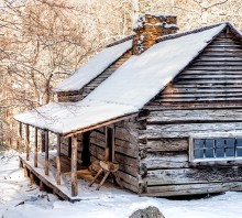 Ogle Cabin in Winter