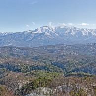 Snowy Smoky Mountain Panorama