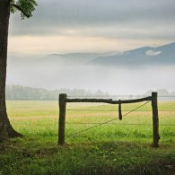 Free Wallpaper: Spring Morning in Cades Cove