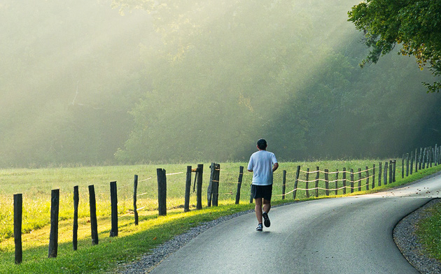 Wordless Wednesday: Jogging in Cades Cove