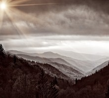 Smoky Mts in Sepia