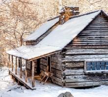 Ogle Cabin in Winter