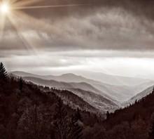 Smoky Mountains in Sepia